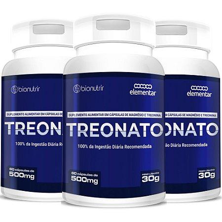 Kit 3 Magnésio L Treonato 500mg - 180 Cápsulas Bionutrir