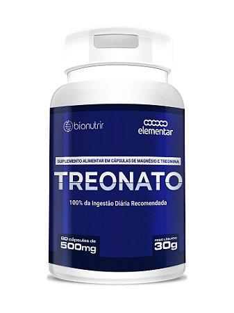 Magnésio L-treonato (500mg) 60 Cápsulas - Bionutrir