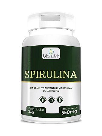 Spirulina (550mg) 60 Cápsulas - Bionutrir