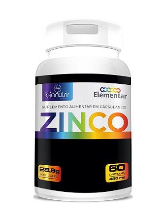 Zinco Suplemento Mineral 60 Cápsulas - Bionutrir