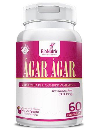 Ágar Ágar 500MG 60 Cápsulas - BioNutrir