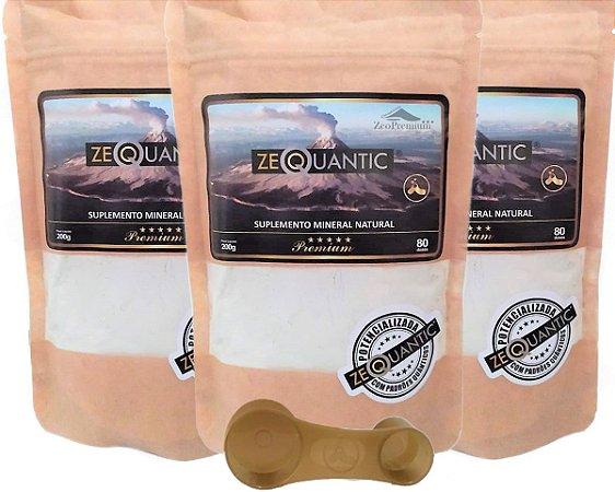 Kit Zeólita Clinoptilolita 3x 200g Premium  - Total de 6 ciclos Com dosador