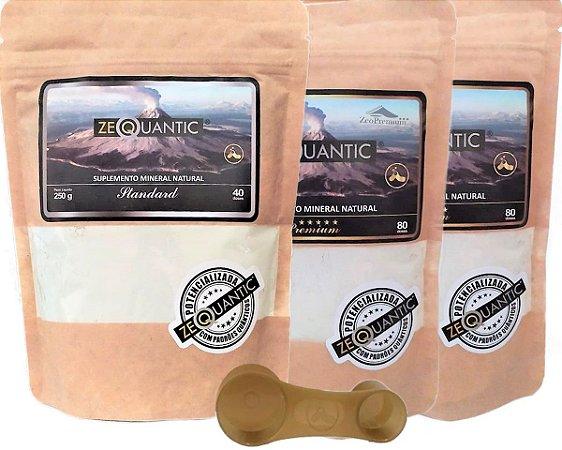 Zeoquantic Clinoptilolita Frequênciada e Potencializada, 2 Premium 200g + 1Standard 250g - 5 Ciclos