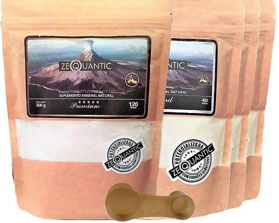 Zeoquantic Clinoptilolita Frequênciada e Potencializada, 1 Premium 300g + 3 Standard 250g - 6 ciclos