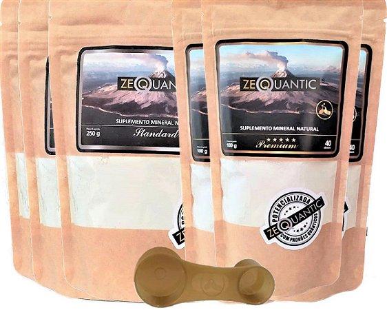 Kit Zeólita Clinoptilolita 3x 100g  Premium + 3x 250g Standard - Total 6 ciclos Com dosador