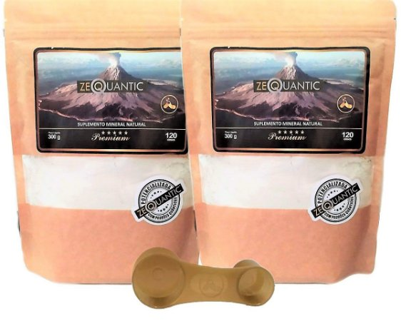 Kit Zeólita Clinoptilolita = 2 Premium 300g (3 ciclos cada unidade) total 6 ciclos  {1 Dosador dentro da embalagem de cada Zeólita}