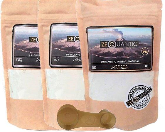 Zeoquantic Clinoptilolita Frequênciada e Potencializada, 2 Standard 250g + 1 Premium 200g - 4 ciclos