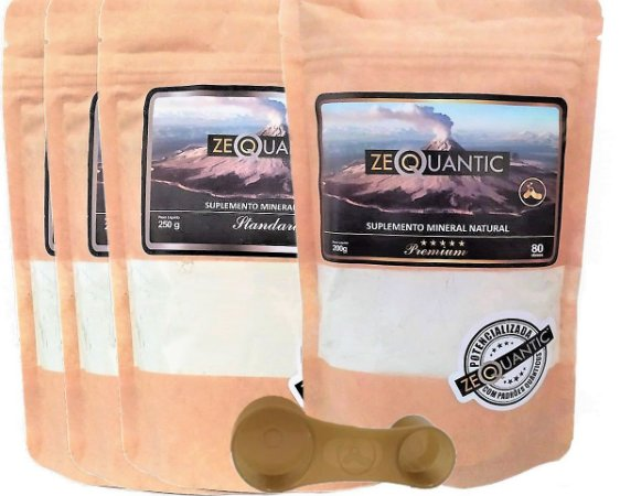 Kit Zeólita Clinoptilolita 3x 250g Standard + 1x 200g Premium - Total 5 ciclos Com Dosador