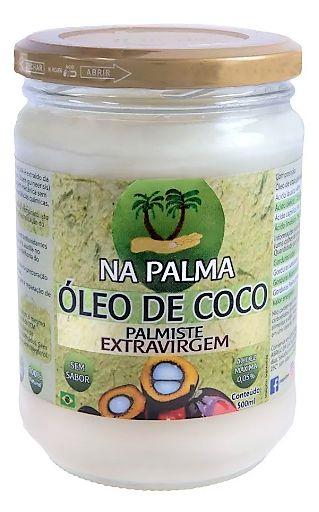 Óleo De Coco Na Palma Extravirgem 500ml 100% Sem Sabor