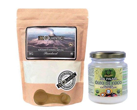 Kit > Zeoquantic Clinoptilolita Potencializada Standard 250g + 1 Óleo de coco extra virgem 200ml