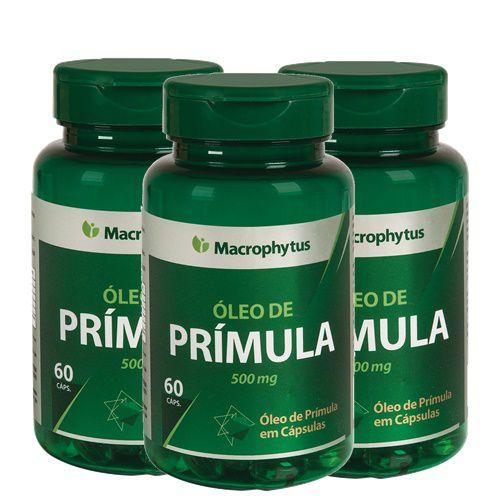 3 Óleos de Prímula 500mg Total 180cps - Macrophytus