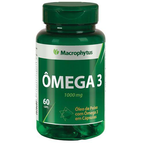 Ômega 3 - 60 Cápsulas 1000Mg Macrophytus - Envio Imediato