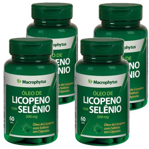 Kit Licopeno + Selenio Softgel 500 Mg Macrophytus 4x 60 Caps