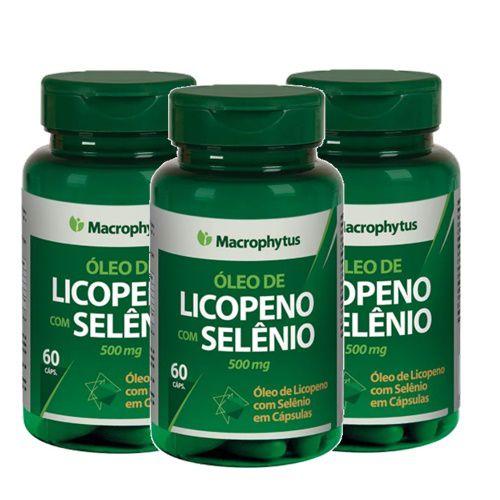 Kit Licopeno+Selênio Softgel 500 Mg Macrophytus 3x 60 Cáps