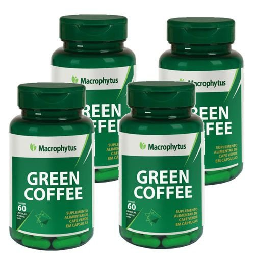 Kit Green Coffee (café Verde) 500mg 60 Cápsulas 4 Unidade
