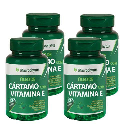 Kit Cártamo C/Vitamina E 1000mg  60 Cápsulas 4 Unidades