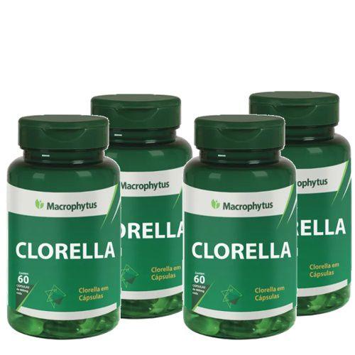 Kit  4 Chlorella 400mg com 240cps no total - Macrophytus