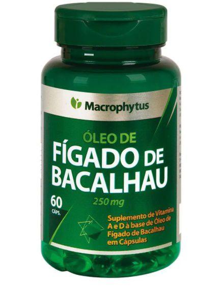 Fígado De Bacalhau 250mg com 60cps - Macrophytus