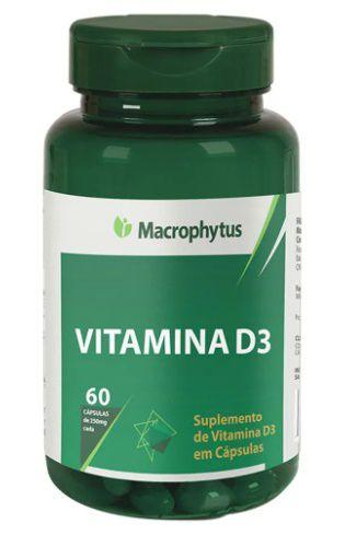 Vitamina D3 250mg 60 cápsulas - Macrophytus