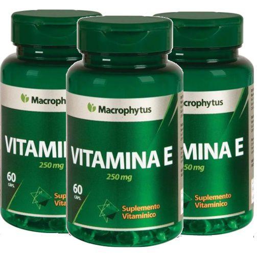 Kit 3 Vitamina E 180 Cápsulas - Macrophytus