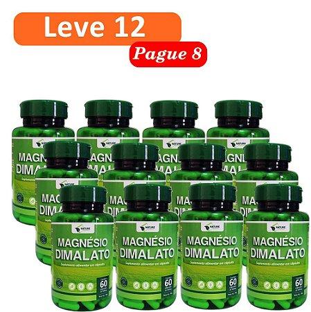 Magnésio Dimalato 500mg, 720cps - 12 Unidades de 60cps Vegan