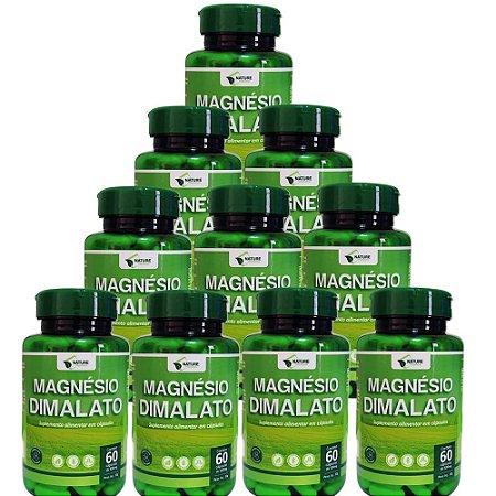 Magnésio Dimalato 500mg - 600cps - 10 Unidades de 60cps Vegan