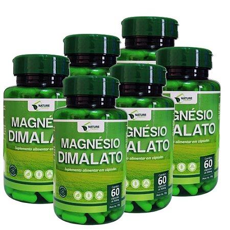 Magnésio Dimalato 500mg - 360cps - 6 Unidades de 60cps Vegan