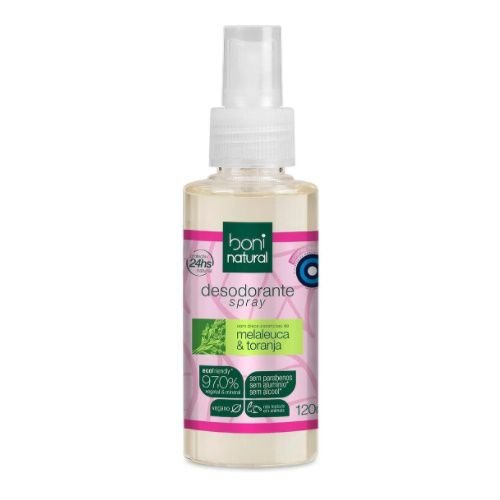 Desodorante Spray Boni Natural Melaleuca E Toranja 120ml