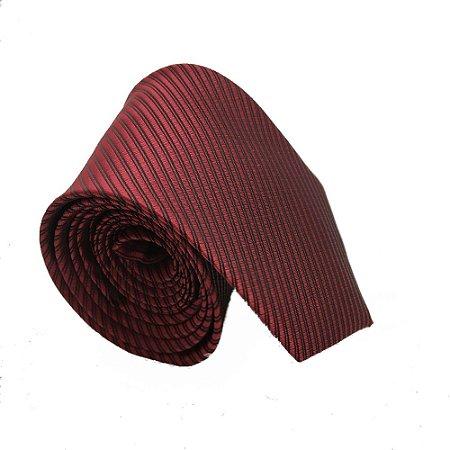 Gravata Tradicional Listrada - Cor vermelho