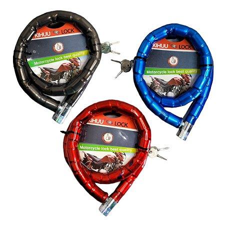 Trava Cadeado Articulado Moto Bicicleta Portão 100 cm 22 mm