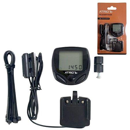 Odômetro Velocímetro para Bicicleta a Prova D´água Modelo com LCD - Com Fio