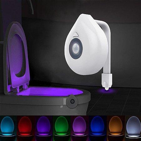 Luz para Vaso Sanitário Privada Com Sensor Movimento 8 cores