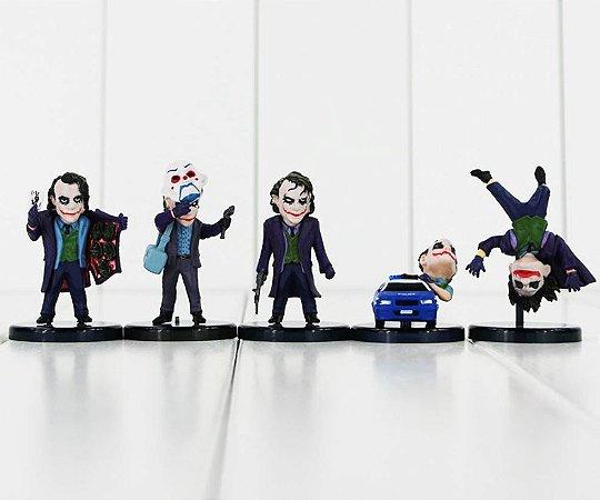 Kit Coleção Boneco Miniatura Coringa The Joker 5 Peças