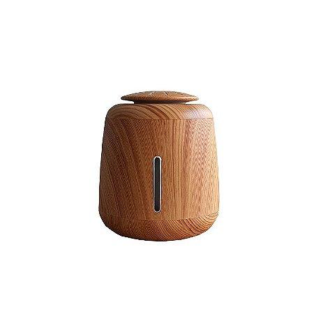 Umidificador Portátil Madeira Ajuste Touch e LED RGB 340 ML