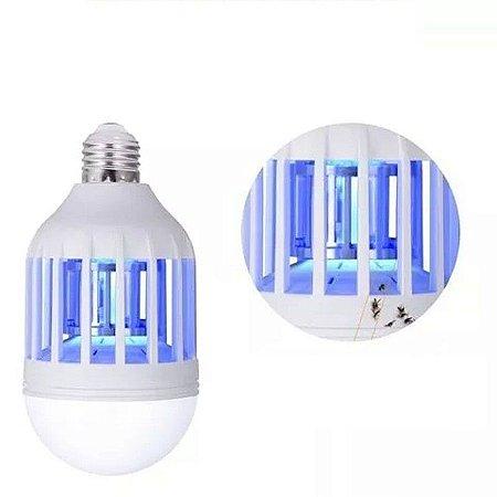 Lâmpada Repelente Mosquito Pernilongo Led Branco com UV 15W
