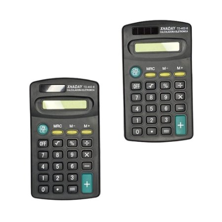 Kit 2 Calculadoras Portátil Bolso Super Compacta 8 Dígitos
