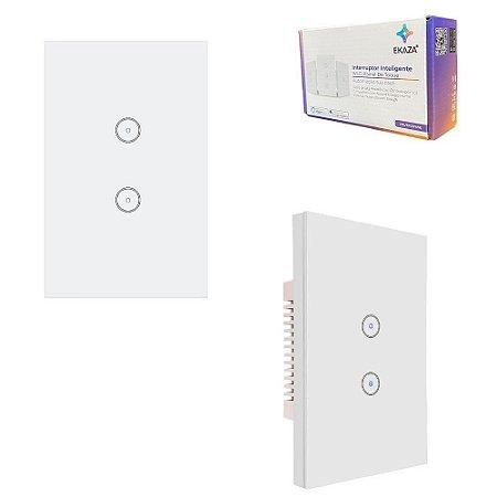 Interruptor Parede Touch com Wifi 2 Botões Alexa Google