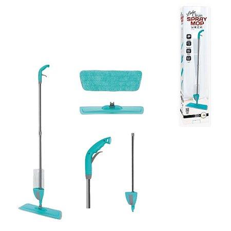 Rodo Limpeza Microfibra e Reservatório Spray Brilho Limpeza