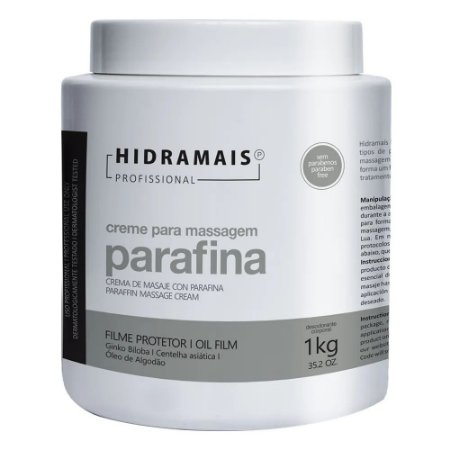 CREME PARA MASSAGEM PARAFINA 1KG - HIDRAMAIS