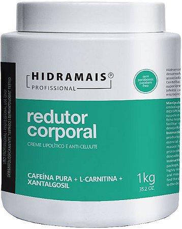 CREME MASSAGEM REDUTOR CORPORAL COM CAFEINA 1KG - HIDRAMAIS