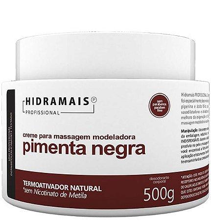 CREME PARA MASSAGEM PIMENTA NEGRA 500G - HIDRAMAIS