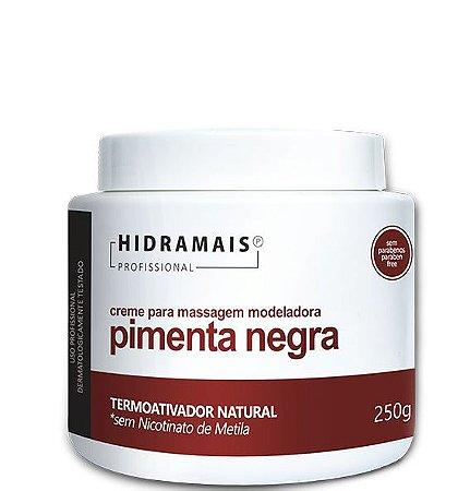 CREME PARA MASSAGEM PIMENTA NEGRA 250G - HIDRAMAIS