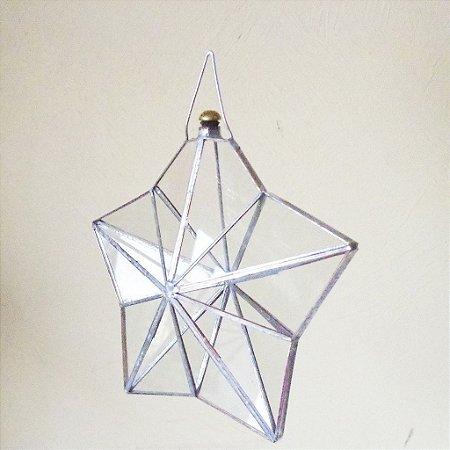 Prisma de água estrela 5 pontas juntas metálicas 14 cm