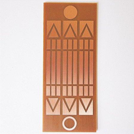 Placa Luxor - Gráfico em Cobre 6 cm x 15 cm