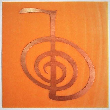 Placa de Reiki - Gráfico em Cobre - Tamanho P