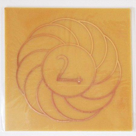 Placa Turbilhão Júpiter M - Gráfico em Cobre