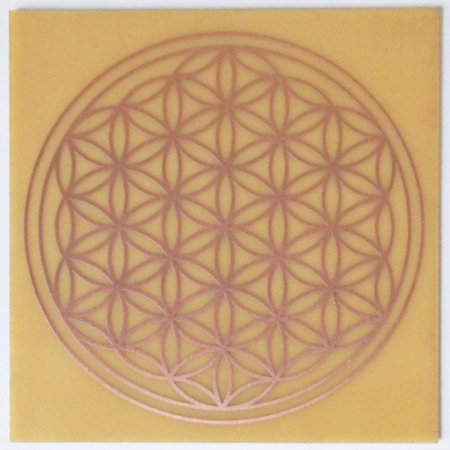 Placa Radiônica Flor da Vida G- Gráfico em Cobre