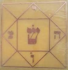 Placa Quadrado Mágico G - Gráfico em Cobre