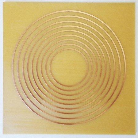Placa Onze Círculos G - Gráfico em Cobre