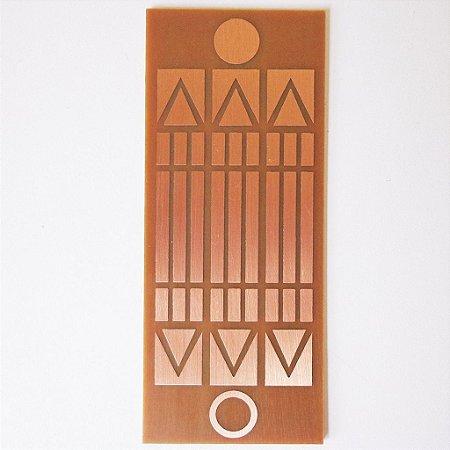 Placa Luxor Mini - Gráfico em Cobre 3 cm x 6 cm